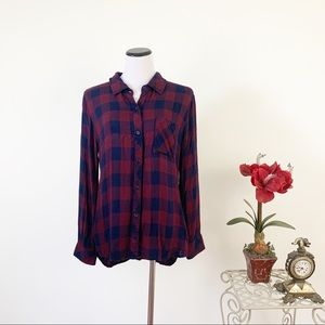 Rails Button Front Plaid Shirt